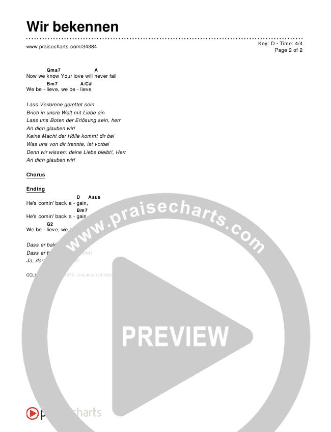 Wir bekennen Chords & Lyrics ()