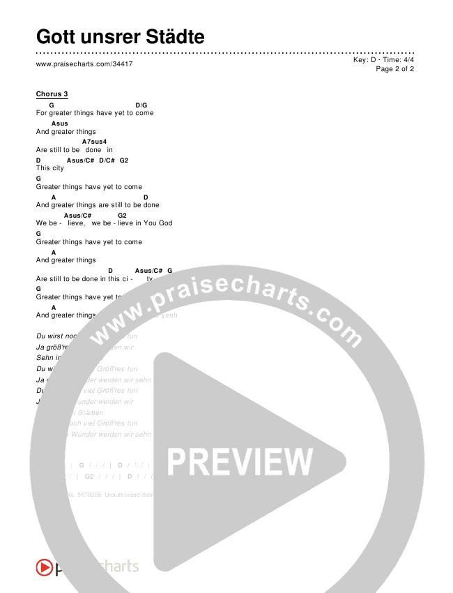 Gott unsrer Städte Chords & Lyrics ()