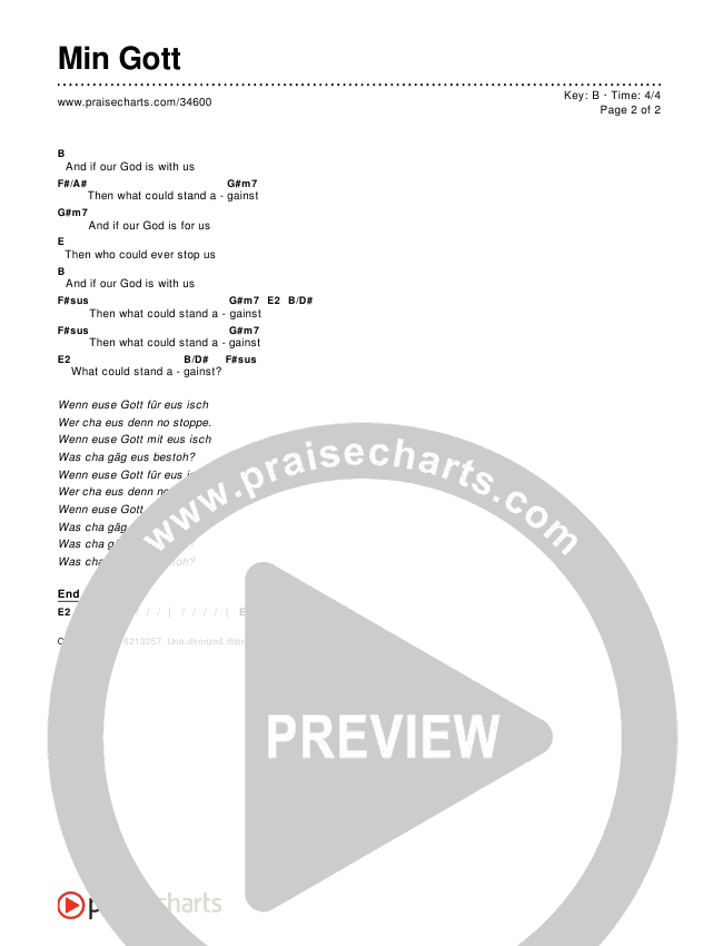 Min Gott Chords & Lyrics ()