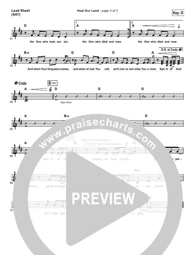 Heal Our Land Lead & Piano/Vocal (Kari Jobe)
