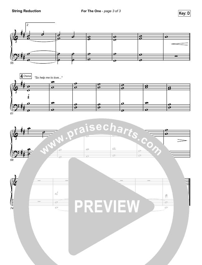 For The One String Pack (Brian Johnson / Jenn Johnson)
