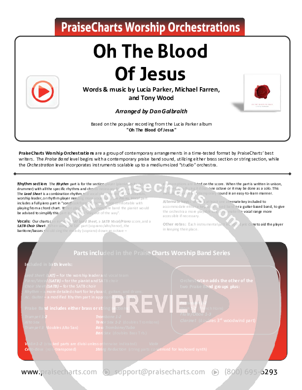 Oh The Blood Of Jesus Orchestration (Lucia Parker)