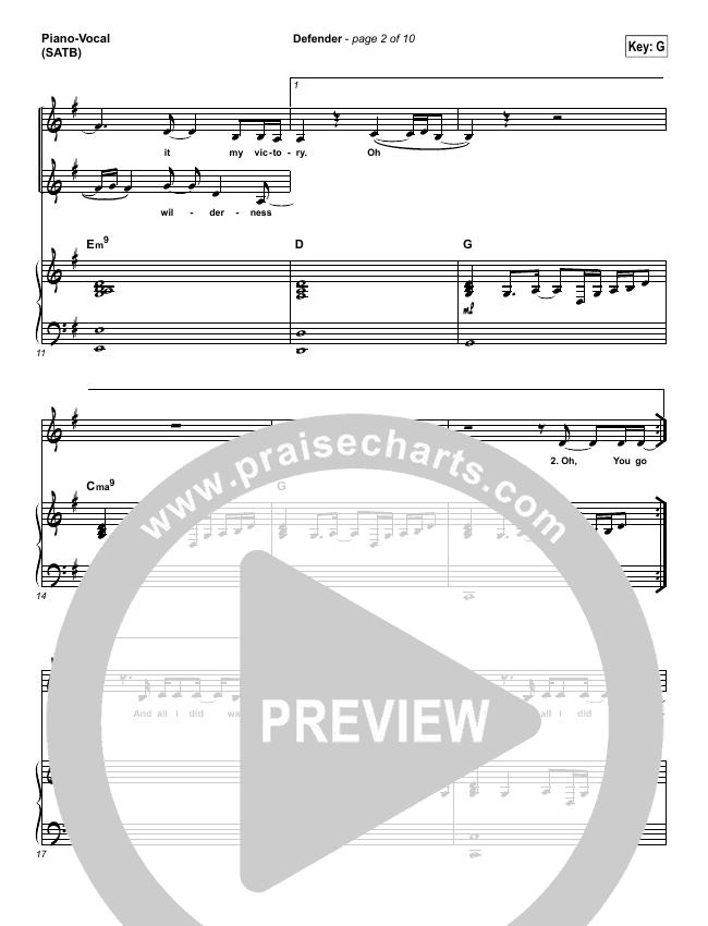 Defender Piano/Vocal (SATB) (Rita Springer)