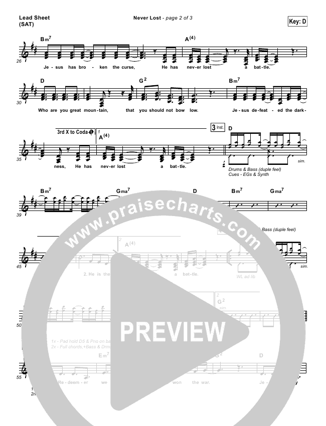 Never Lost Orchestration & Finale (Rita Springer)