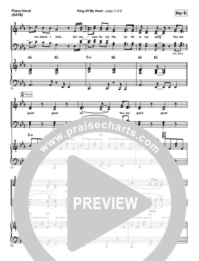 King Of My Heart Piano/Vocal (SATB) (Kutless)