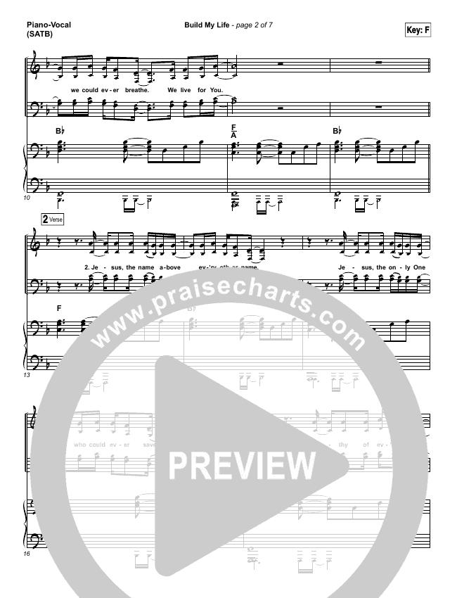 Build My Life Piano/Vocal (SATB) (Passion / Brett Younker)