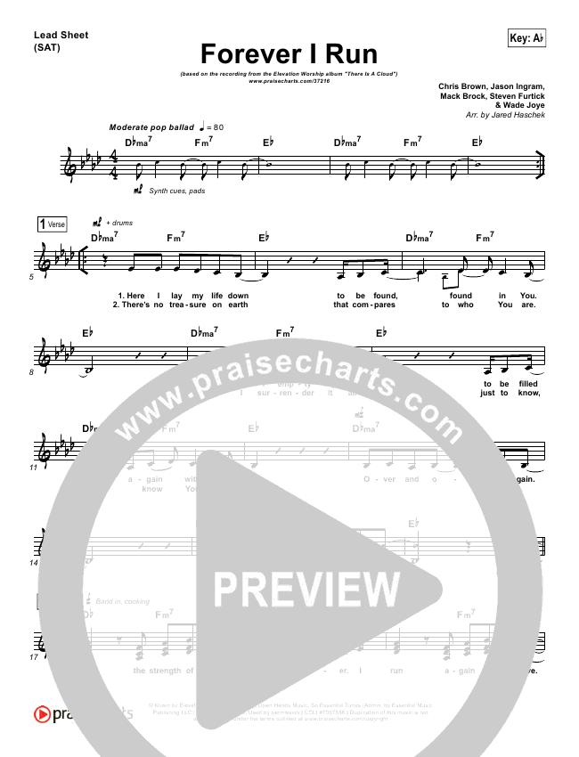 Forever I Run Lead (SAT) (Elevation Worship)