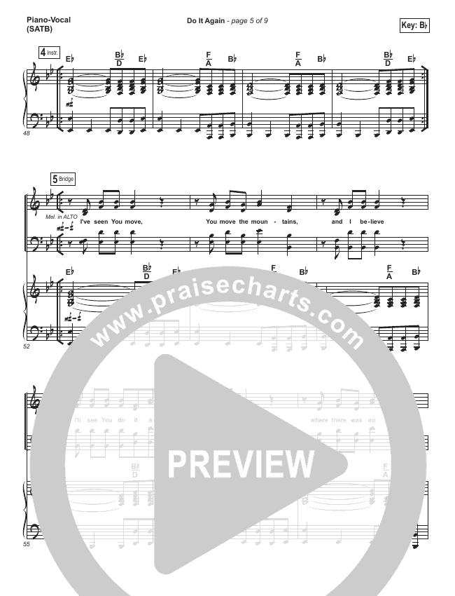 elevation worship do it again sheet music pdf