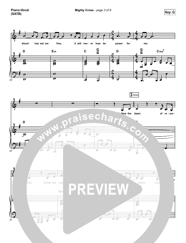 Mighty Cross Piano/Vocal (SATB) (Elevation Worship)