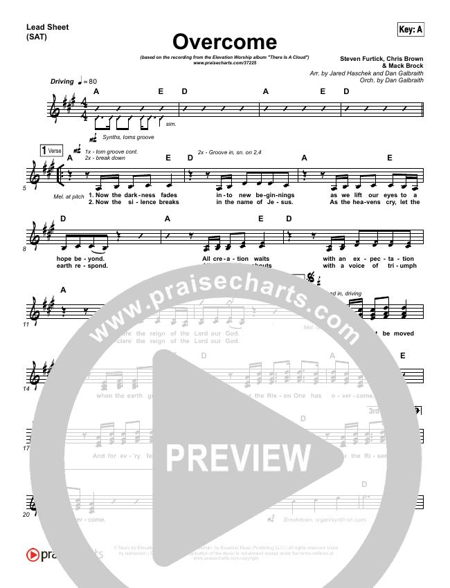 Overcome Lead Sheet (SAT) (Elevation Worship)