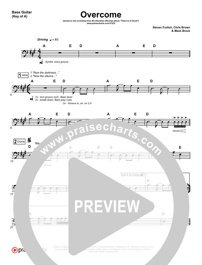 Overcome Bass Guitar (Elevation Worship)