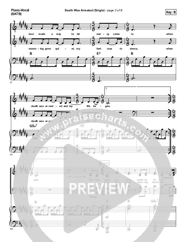 Death Was Arrested Piano/Vocal (SATB) (North Point Worship / Seth Condrey)