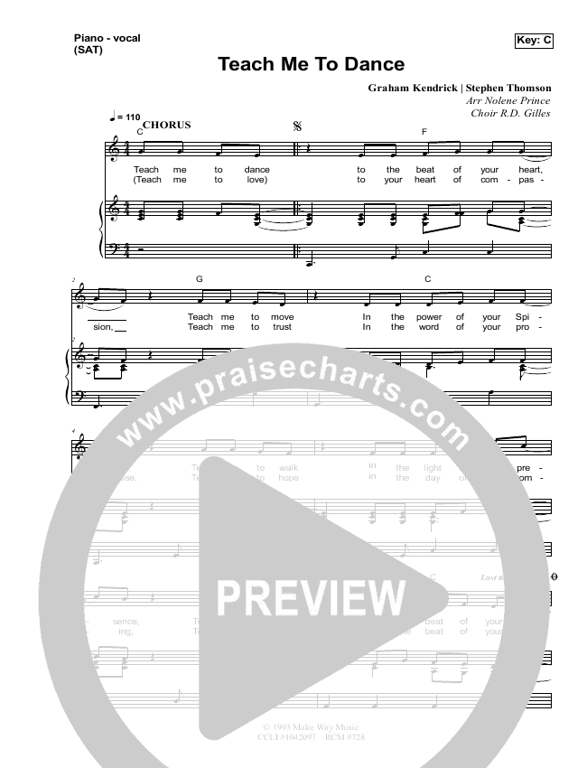 Teach Me To Dance Lead & Piano/Vocal (Dennis Prince / Nolene Prince)