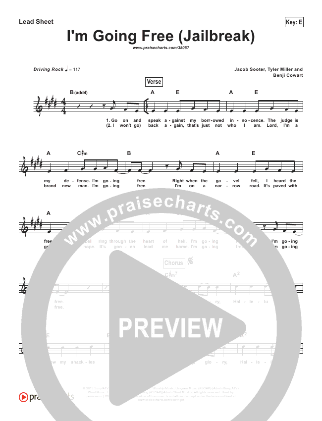 I'm Going Free (Jailbreak) (Simplified) Lead Sheet ()