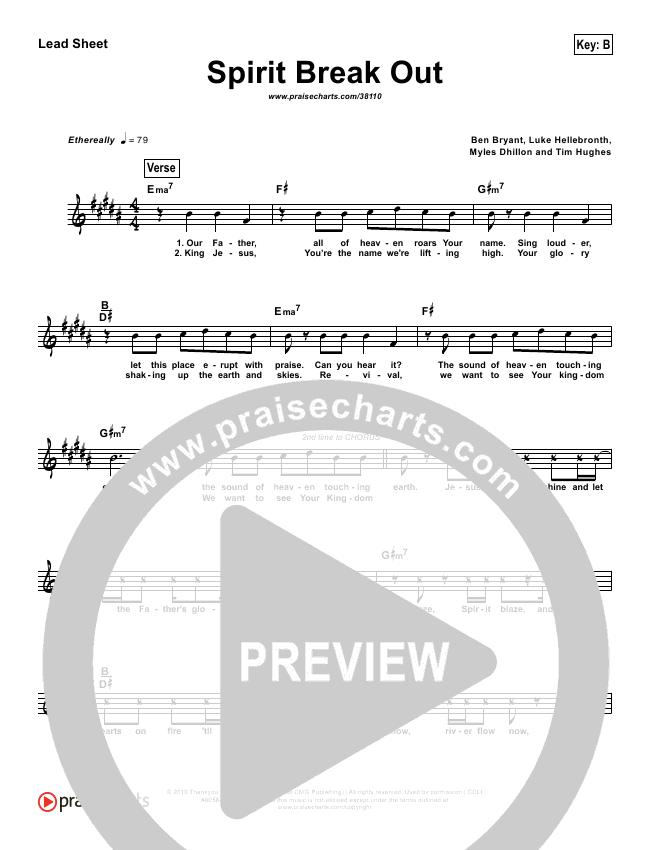 Spirit Break Out (Simplified) Lead Sheet ()