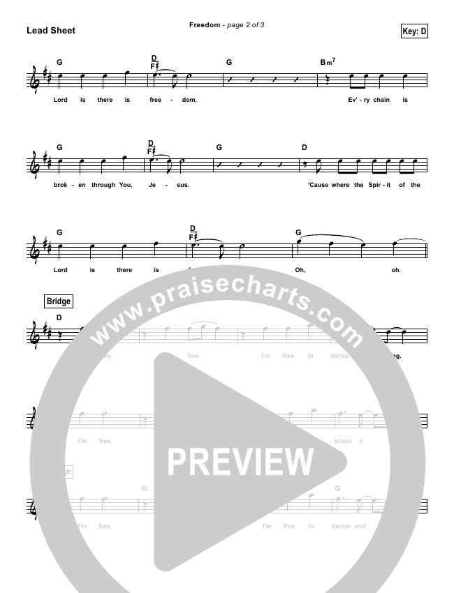 Freedom (Simplified) Lead Sheet (Bethel Music)