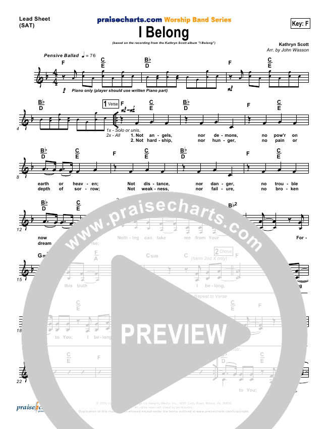 I Belong Orchestration & Finale (Kathryn Scott)