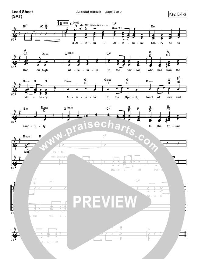 Alleluia Alleluia Orchestration (PraiseCharts Band / Arr. Dan Galbraith)