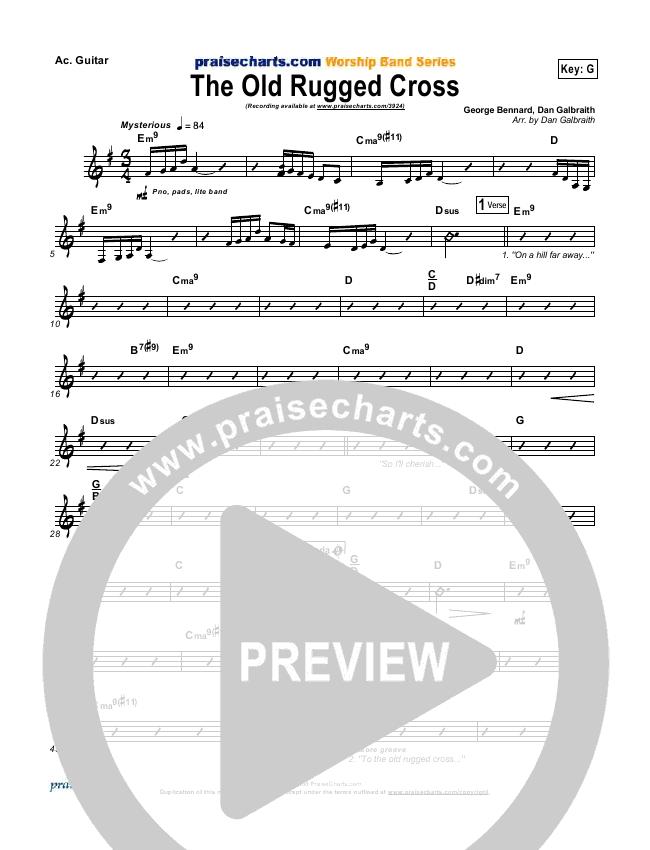 The Old Rugged Cross Rhythm Chart - PraiseCharts Band | PraiseCharts