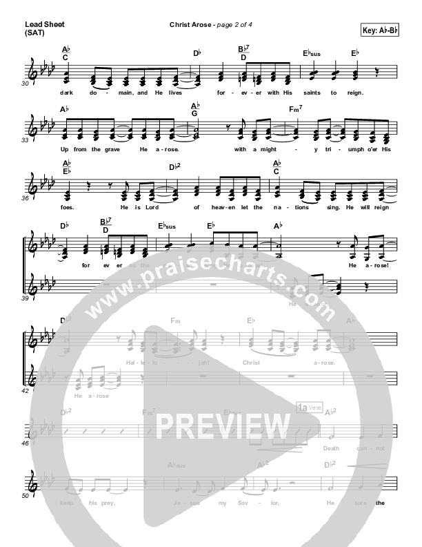 Christ Arose (He Is Lord Of Heaven) Lead & Piano/Vocal (PraiseCharts Band / Arr. Dan Galbraith)