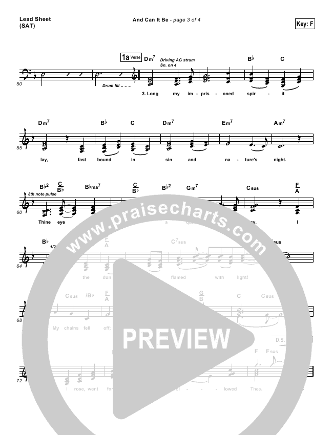 And Can It Be Lead & Piano/Vocal (PraiseCharts Band)