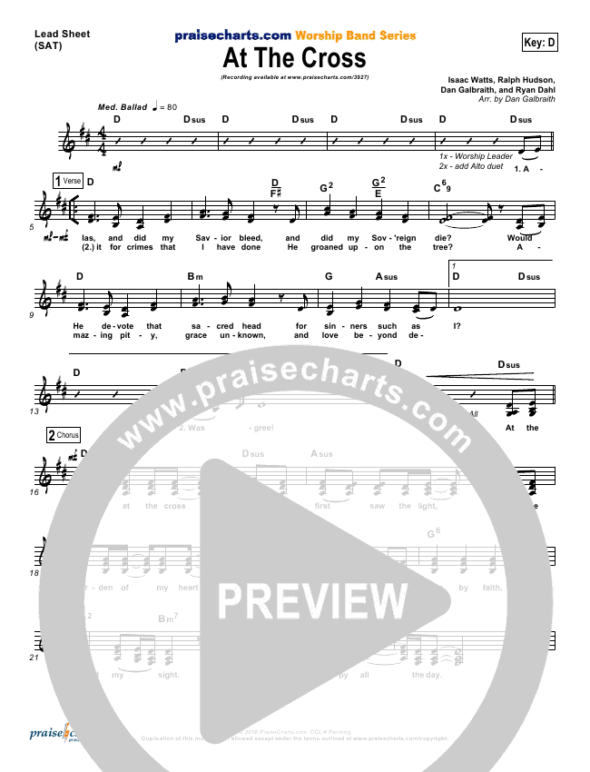 At The Cross Orchestration (PraiseCharts Band)