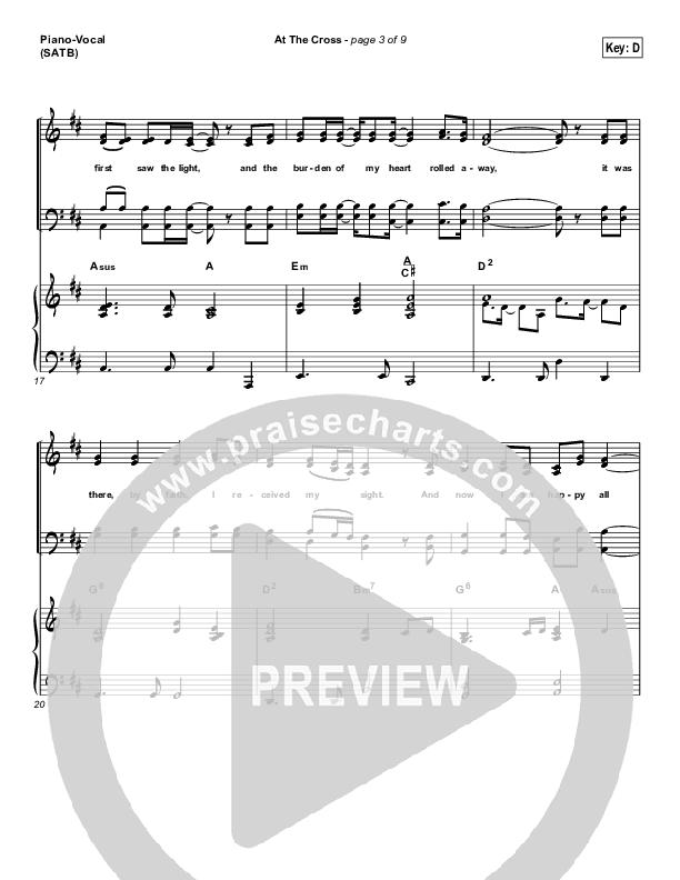 At The Cross Piano/Vocal (SATB) (PraiseCharts Band / Arr. Dan Galbraith)