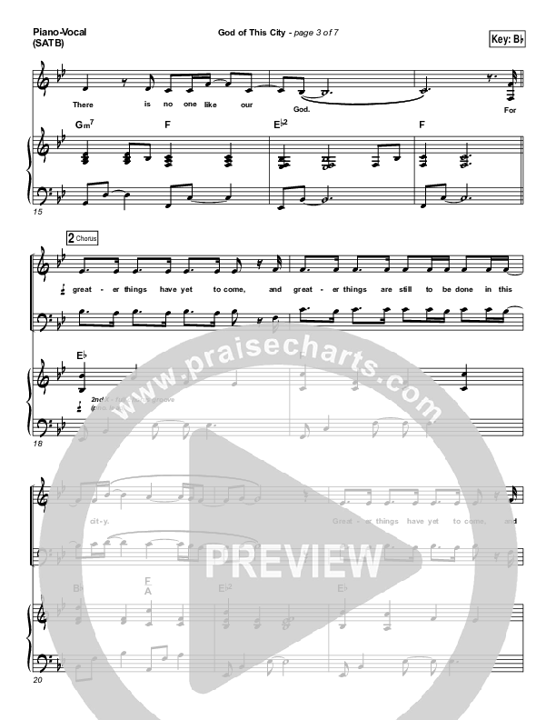 God Of This City Piano/Vocal (SATB) (Chris Tomlin / Passion)