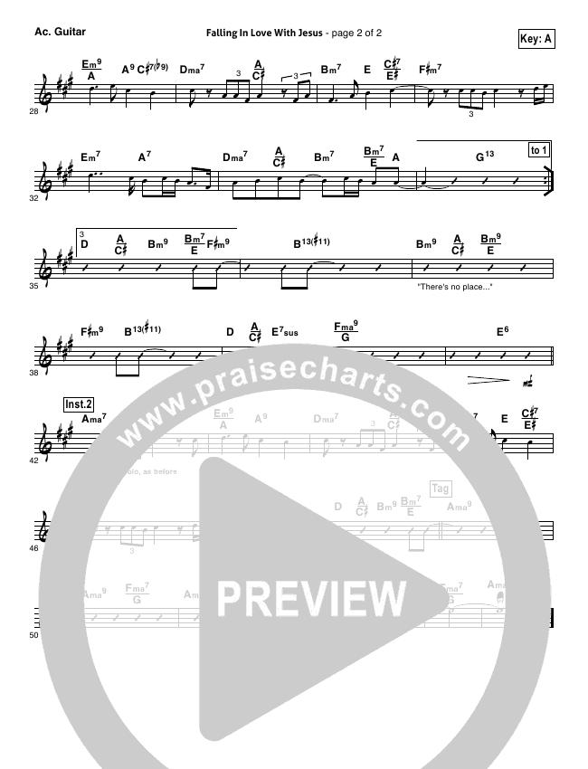 falling in love with jesus sheet music pdf