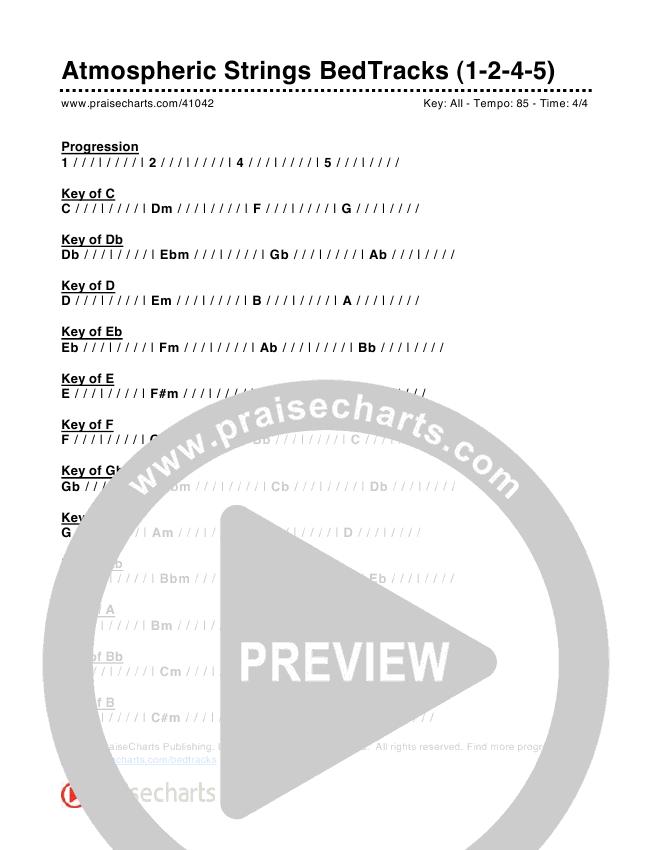 Atmospheric Strings Bed Tracks (1-2-4-5) Chords & Lyrics (PraiseCharts)