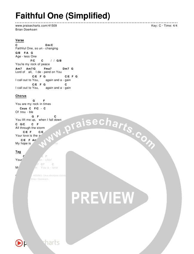 Faithful One (Simplified) Chords & Lyrics ()