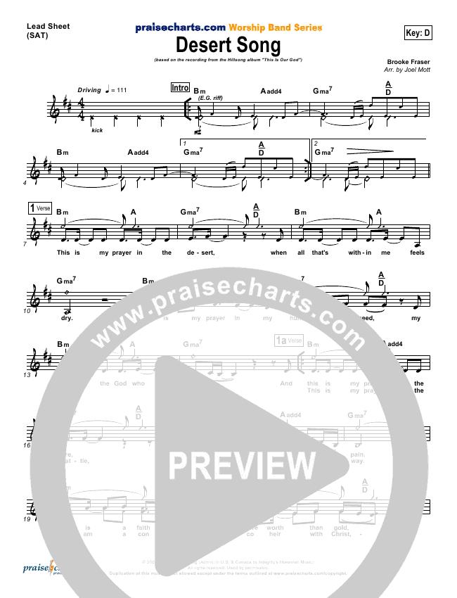 Desert Song Orchestration Hillsong Worship Praisecharts