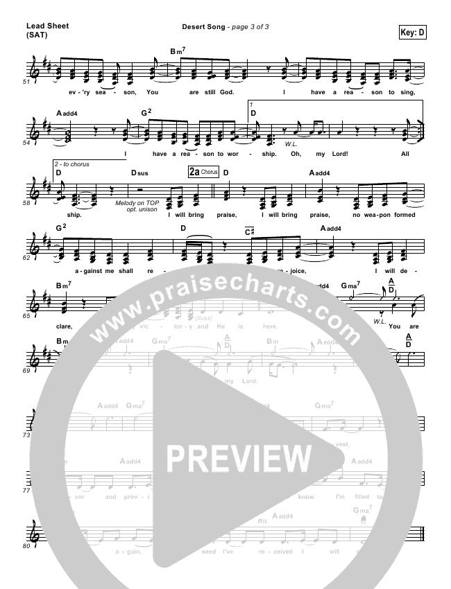 Desert Song Piano/Vocal Pack (Hillsong Worship)