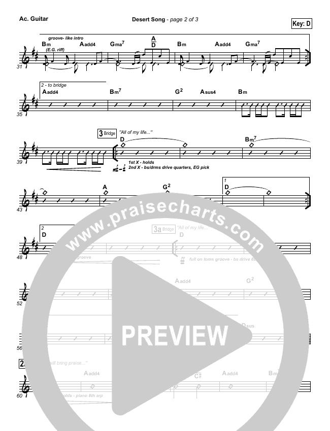Desert Song Rhythm Chart (Hillsong Worship)