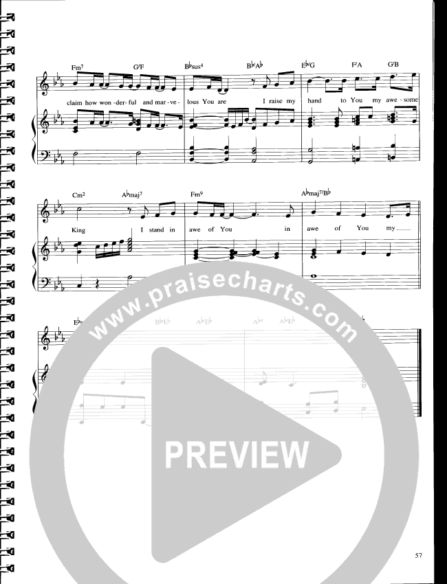 I Stand In Awe Lead Sheet (Parachute Band)