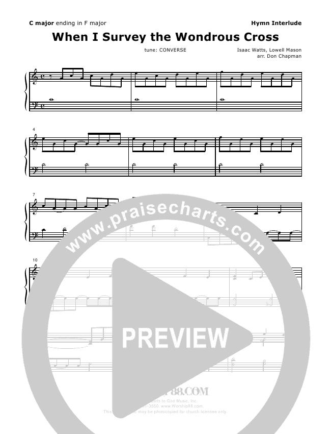 When I Survey The Wondrous Cross Piano Solo - Don Chapman