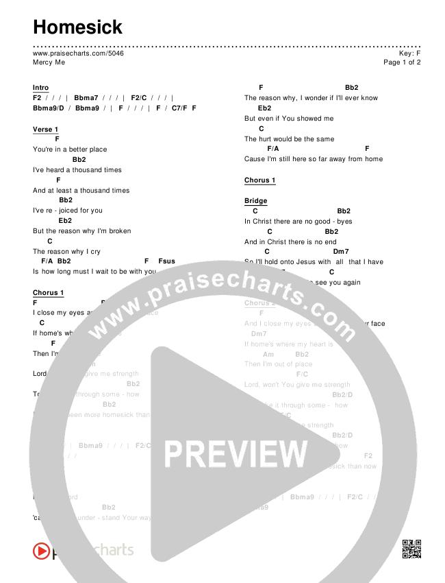Homesick Chords & Lyrics (MercyMe)