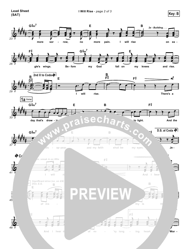 I Will Rise Piano/Vocal Pack (Chris Tomlin)