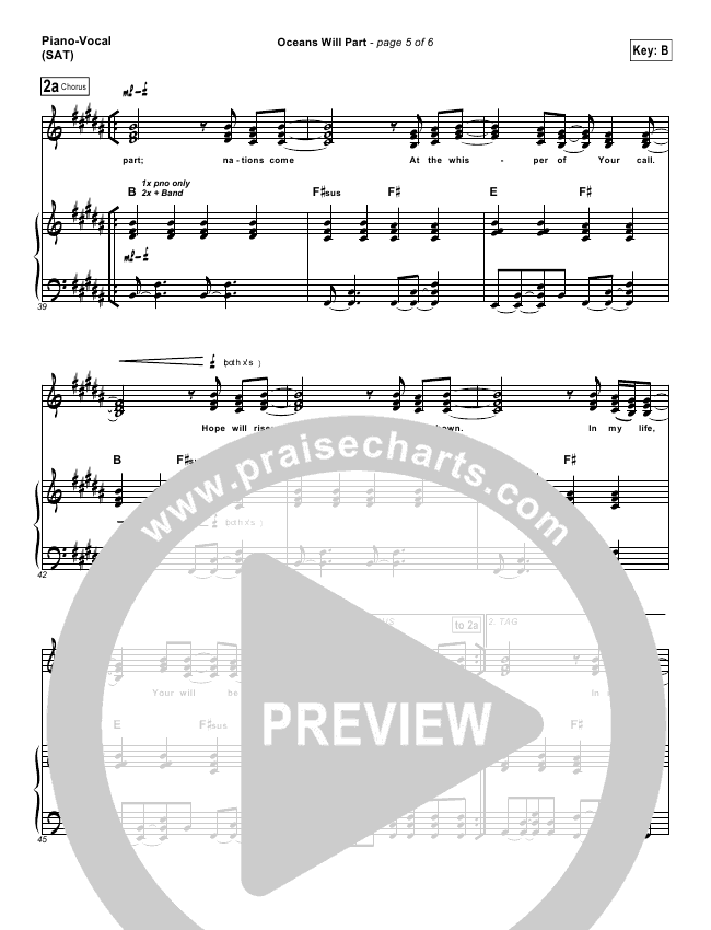 oceans hillsong sheet music pdf