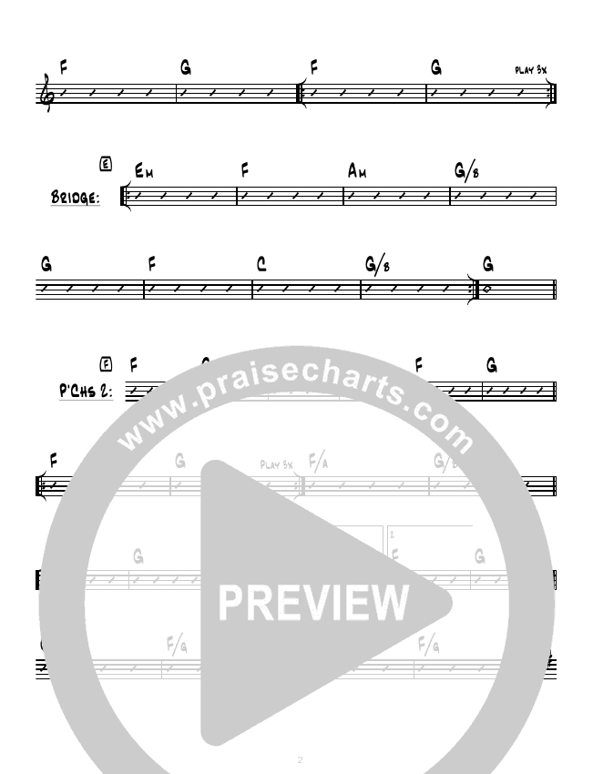 Higher (I Believe In You) (Instrumental) Rhythm Chart (Hillsong Worship)