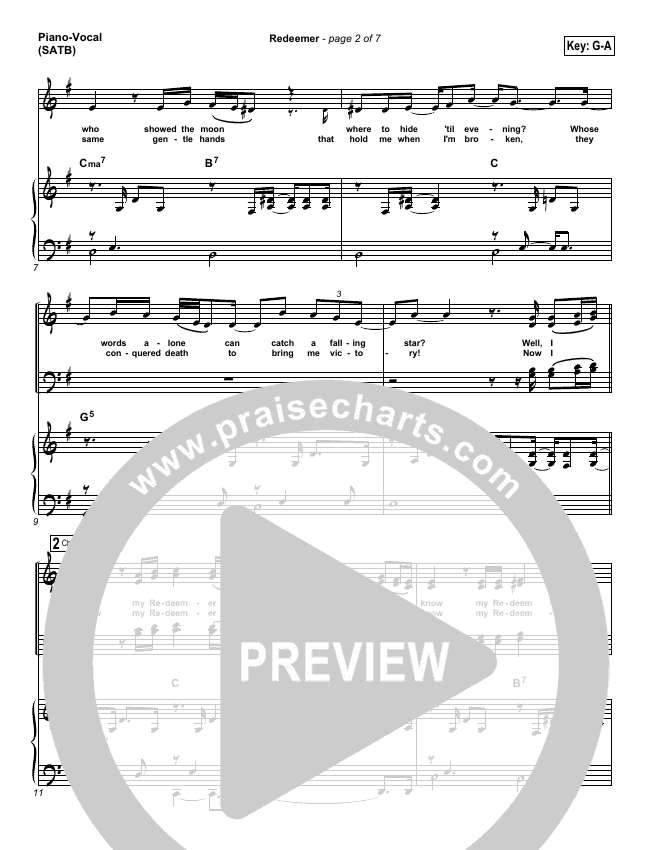 Redeemer Piano/Vocal (SATB) (Nicole C. Mullen)
