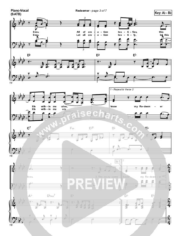 Redeemer Piano/Vocal (SATB) (Nicole C. Mullen)