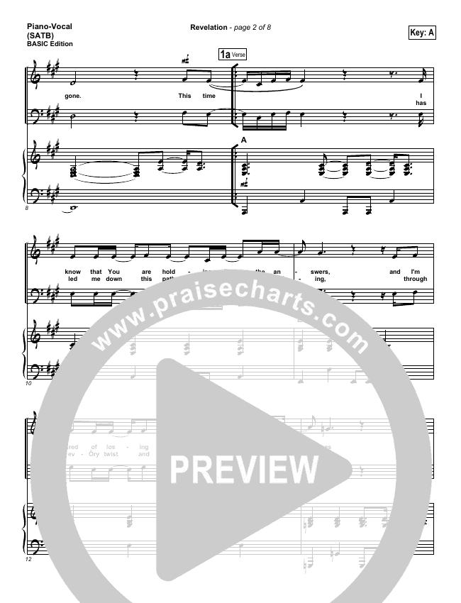 Revelation Piano/Vocal (SATB) (Third Day)