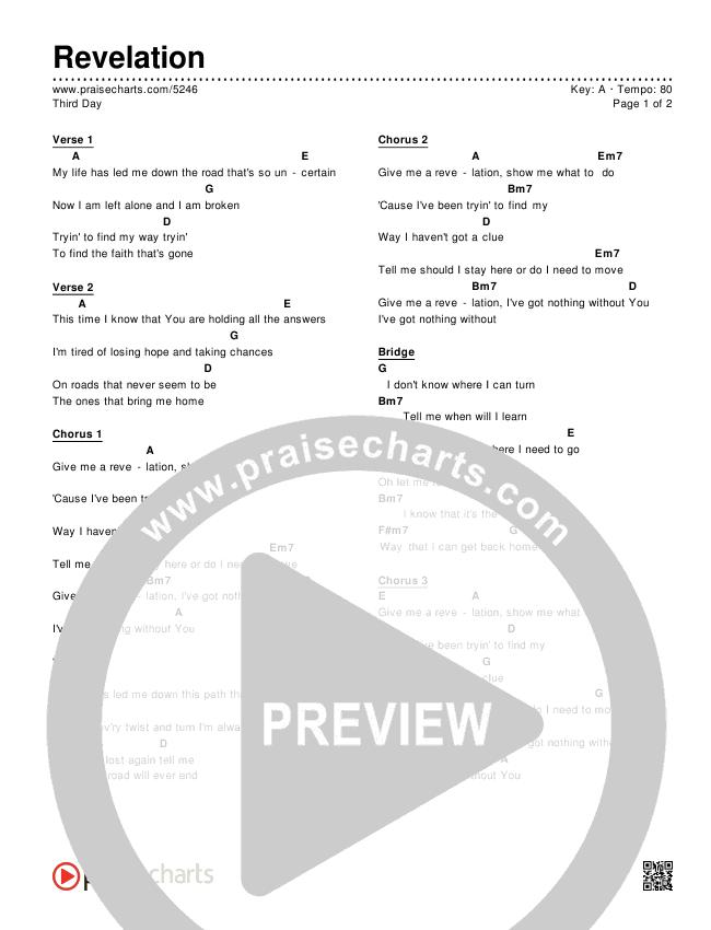 Revelation Chords & Lyrics (Third Day)