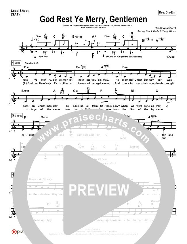 God Rest Ye Merry Gentlemen Orchestration (Frank Ralls)