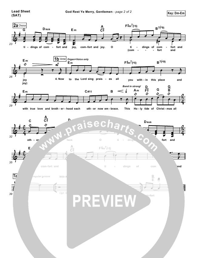 God Rest Ye Merry Gentlemen Lead & Piano/Vocal (Frank Ralls)