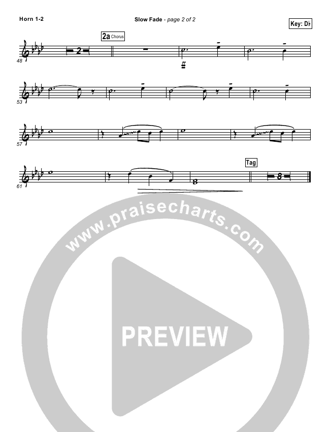 Slow Fade Orchestration Casting Crowns Praisecharts