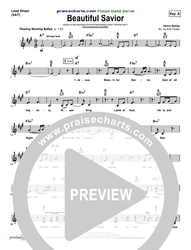 Beautiful Savior Lead Sheet Pianovocal Planetshakers Praisecharts