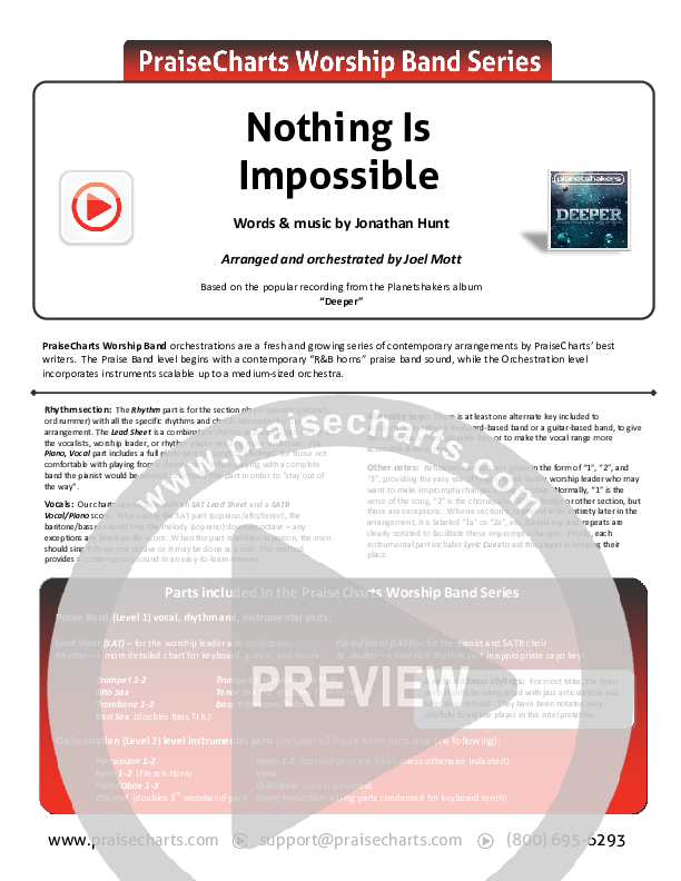 Nothing Is Impossible Orchestration (Planetshakers)