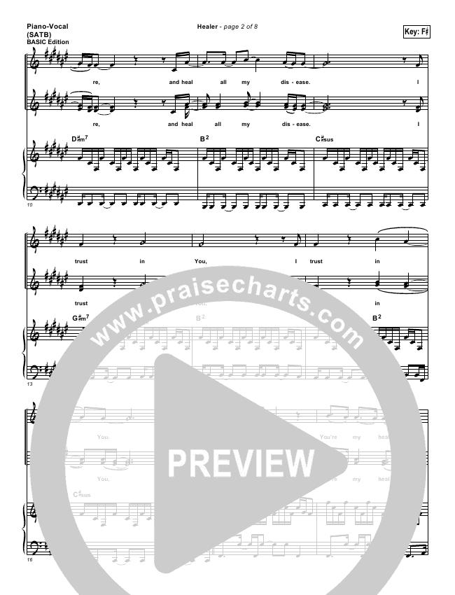 Healerlead Sheet Pianovocal Kari Jobe Praisecharts